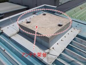 屋根上の突起物
