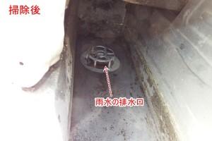 内樋の排水の口元