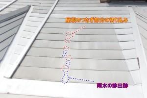 雨漏り 金属屋根 原因 施工