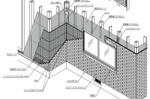 タイル壁 乾式工法