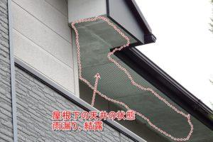 雨漏り 結露 軒天井 屋根