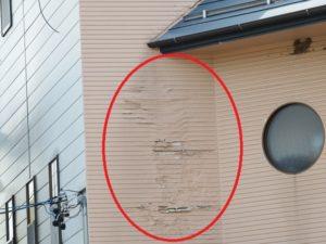 屋根 先端 雨漏り 壁 塗装 はがれ